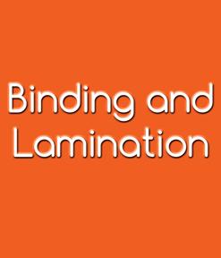 Binding and Lamination