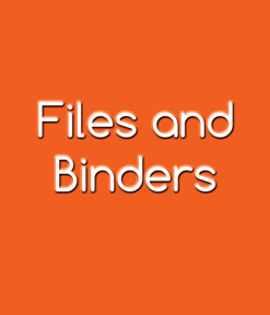 Files and Binders